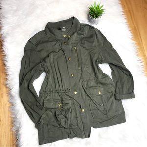 H&M Divided Olive Utility Jacket